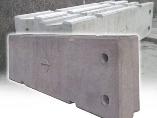 Temporary Vertical Concrete Barriers by Elite Precast Concrete Ltd – Concrete Blocks & Wall Systems