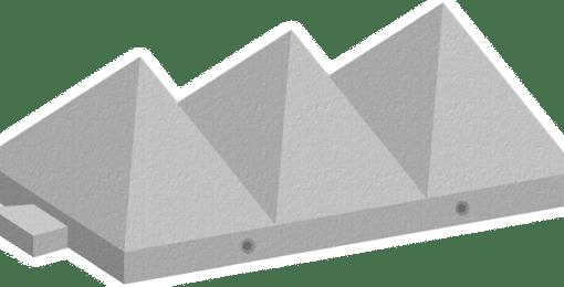 Tank Trap Pyramid Barriers by Elite Precast Concrete Ltd – Concrete Blocks & Wall Systems